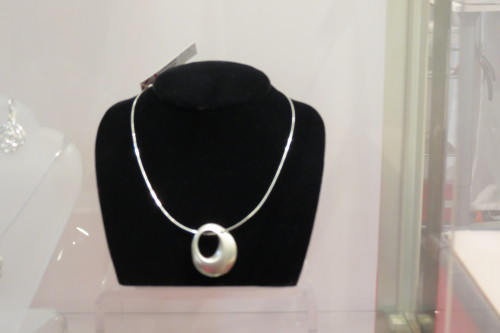 Silver necklace from Kari Woo Art Jewellery, $245