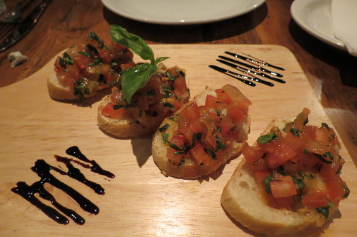Bruschetta at Destingo Kitchen and Bar