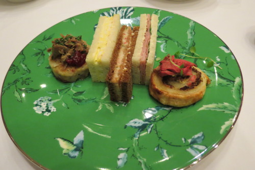 Finger sandwiches at Nutcracker Tea at King Edward Hotel