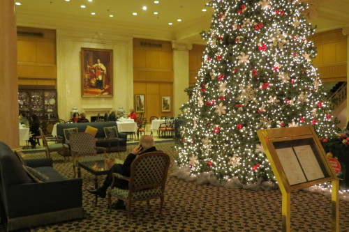 Nutcracker Tea in lobby of King Edward Hotel