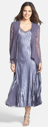 Komarov Sleeveless Satin Dress & Chiffon Jacket at Nordstrom, C$457.33