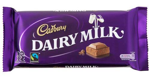 Cadbury Dairy Milk Chocolate Bar, photo courtesy World Vision