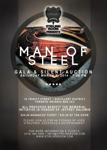Man of Steel fundraiser on March 1, 2014