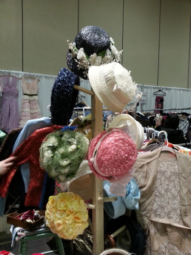 Hats at the Toronto Vintage Clothing Show, photo Sharilene Rowland