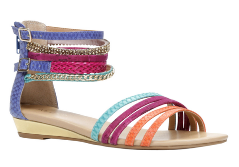 Multi-coloured Leady sandals at Aldo, $60