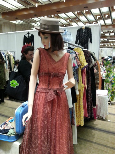 Vintage dress at the Toronto Vintage Clothing Show, photo Sharilene Rowland