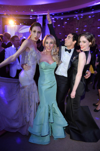 Anna Cleveland, Suzanne Rogers, Zac Posen and Coco Rocha, photo George Pimentel