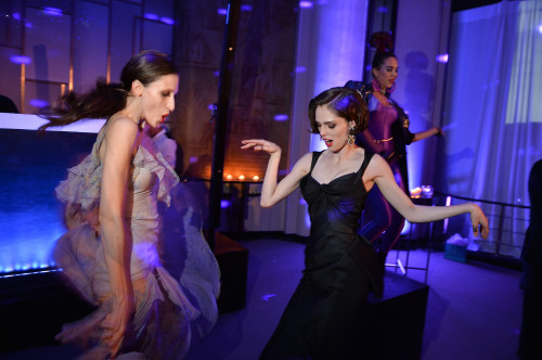 Anna Cleveland and Coco Rocha, photo George Pimentel