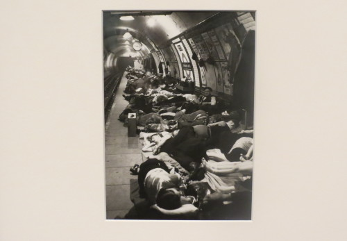 London residents take shelter in underground station, photo copyright Bill Brandt