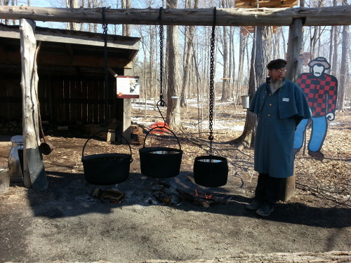 Preparing the maple syrup at Bruce's Mill, photo Sharilene Rowland