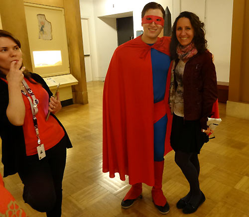 The man in tights appeared at the ROM
