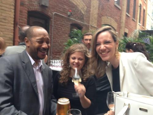 Dave Forde, PR in Canada, Jennifer Bily Steel, Clarissa Vaz de Magalhaes at WEST party in Toronto