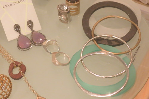 Earrings and bangles from Erin Tracy Jewellery
