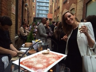 Enjoying Rodney's fresh-shucked oysters at WEST relaunch party in Toronto