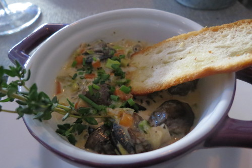 Escargot Fricasee at Batifole Restaurant