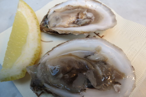 Fresh shucked oysters at La Societe