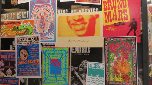 Concert posters at The Science of Rock and Roll