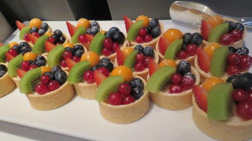 Fruit tarts at Four Seasons Yorkville