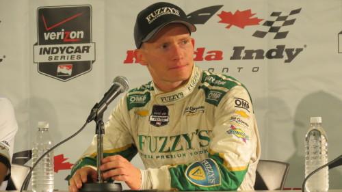 Mike Conway, winner of Race 2 of Honda Indy Toronto 2014, photo Lori Bosworth