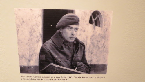 Alex Colville working as a war artist in 1945