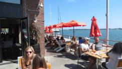 Amsterdam Brewhouse at Harbourfront is one of the best lakeside patios in Toronto