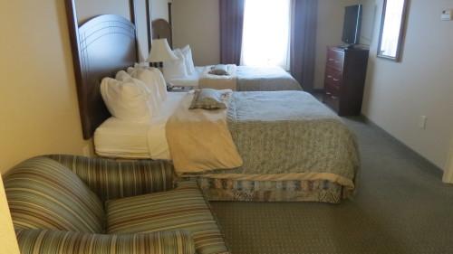Bedroom area at Staybridge Suites Hotel