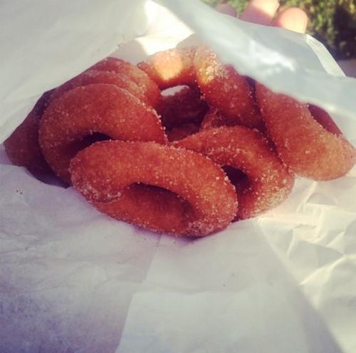 Cinnamon and sugar donuts from Sugar Mamma's