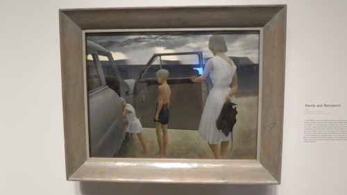 Family and Rainstorm by Alex Colville