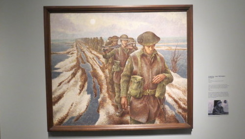 Infantry, near Nijmegen, Holland by Alex Colville