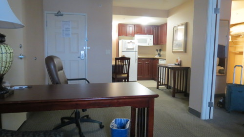 Living room and kitchen at Staybridge Suites Hotel