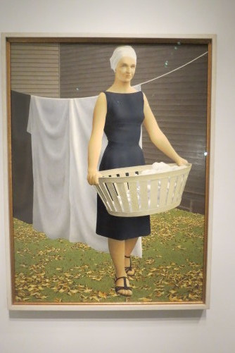 Woman at Clothesline by Alex Colville