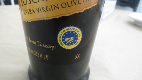 DOP Label on EVOO