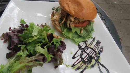 Jerk Chicken Sandwich with Mixed Field Greens at Rectory Cafe