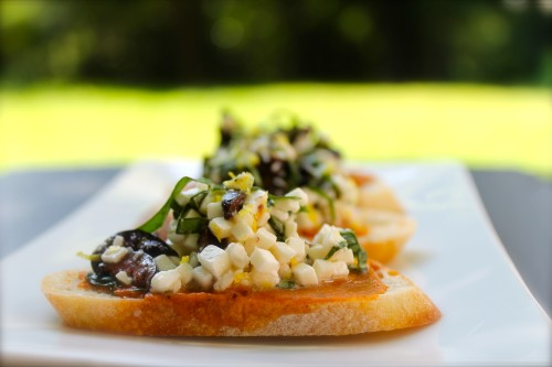 Mediterranean Bruschetta at Eat 2 Feed TO