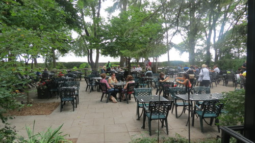 Patio at the Rectory Cafe at Ward's Island
