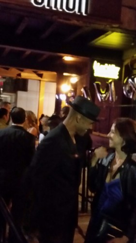Shemar Moore stops to chat with a fan at Uniun Nightclub