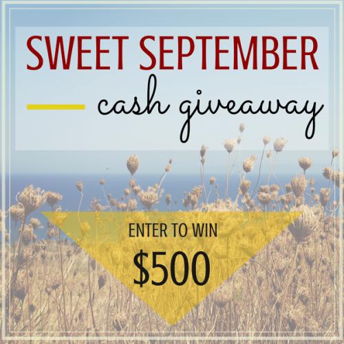 Sweet September Cash Giveaway