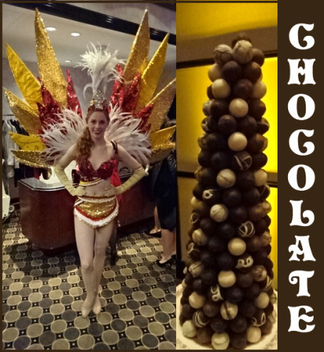 Beautiful lady greeting me in the lobby whisked me into the world of chocolate.