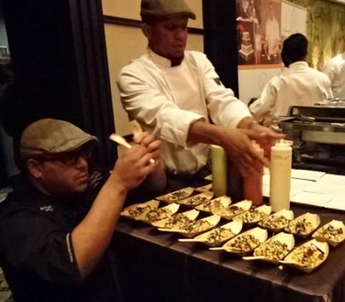 Chef prepares couscous