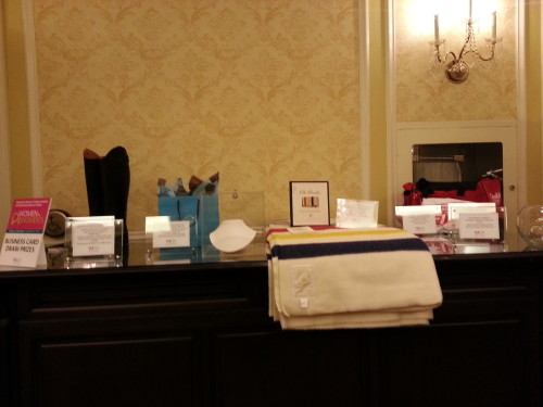 Draw Prizes for attendees at Women for Women's luncheon