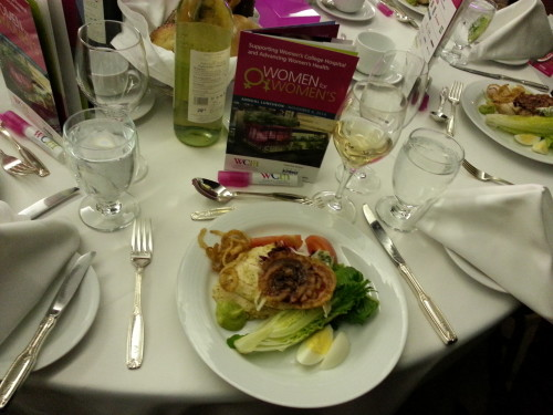 Lunch served at Women for Women's Luncheon 2014