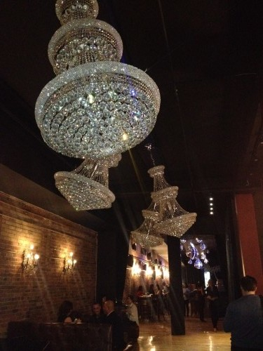 Chandelier at CC Lounge