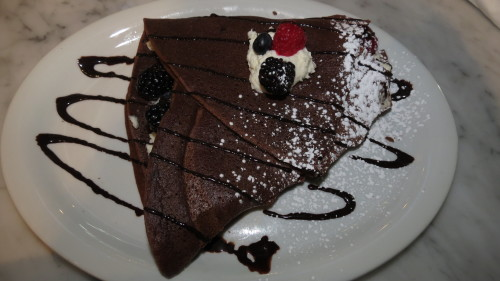 Chocolate crepe with mascarpone and seasonal fruit, $9.95 at Crepe & Co.