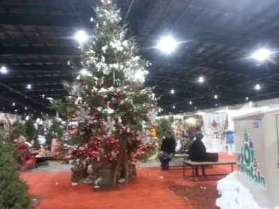 Christmas tree at Seasons Christmas Show
