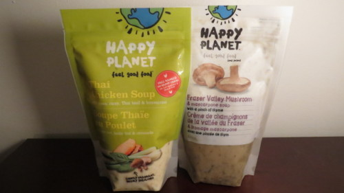 Happy Planet Thai Chicken Soup and Fraser Valley Mushroom and Mascarpone