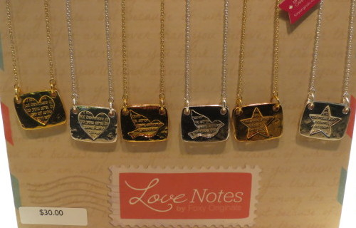 Love Notes Necklaces from Foxy Originals, $30
