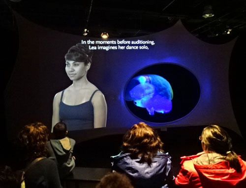 dancer auditioning at Ontario Science Centre Brain exhibit