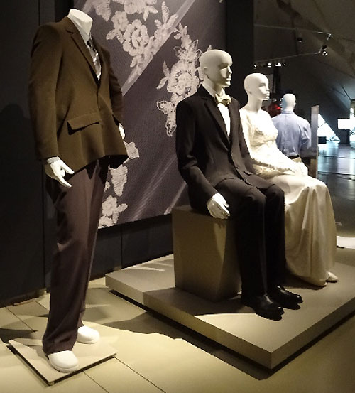 Wedding attire at Fashion Follows Form at the ROM