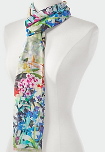 Floral Bouquet Scarf, $59.50, at Talbots