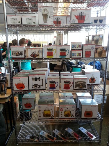 Grosche teapots, presses, mugs at the Toronto Tea Festival